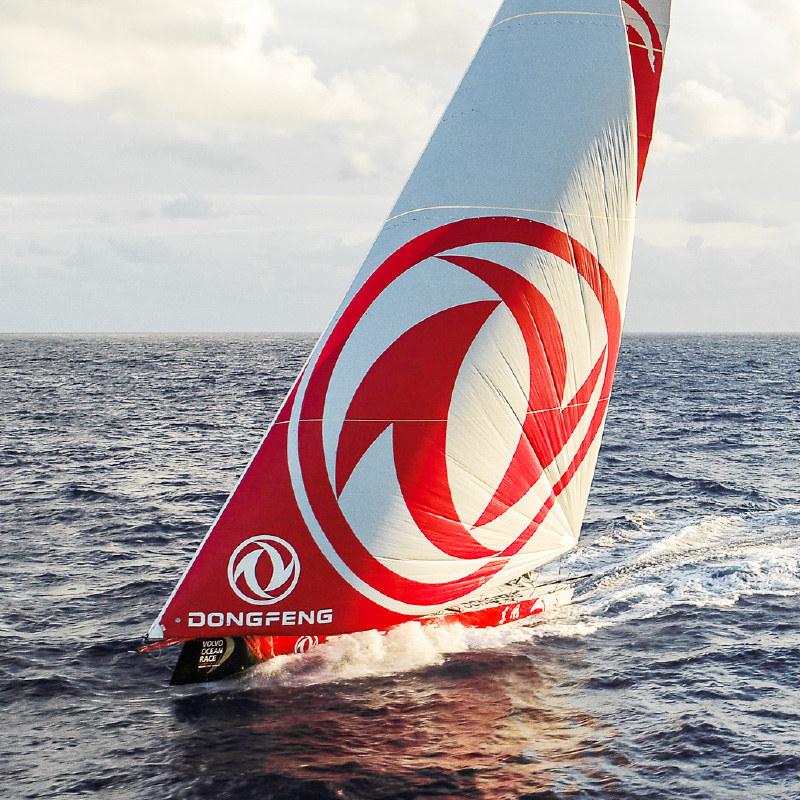 Downwind featured boat