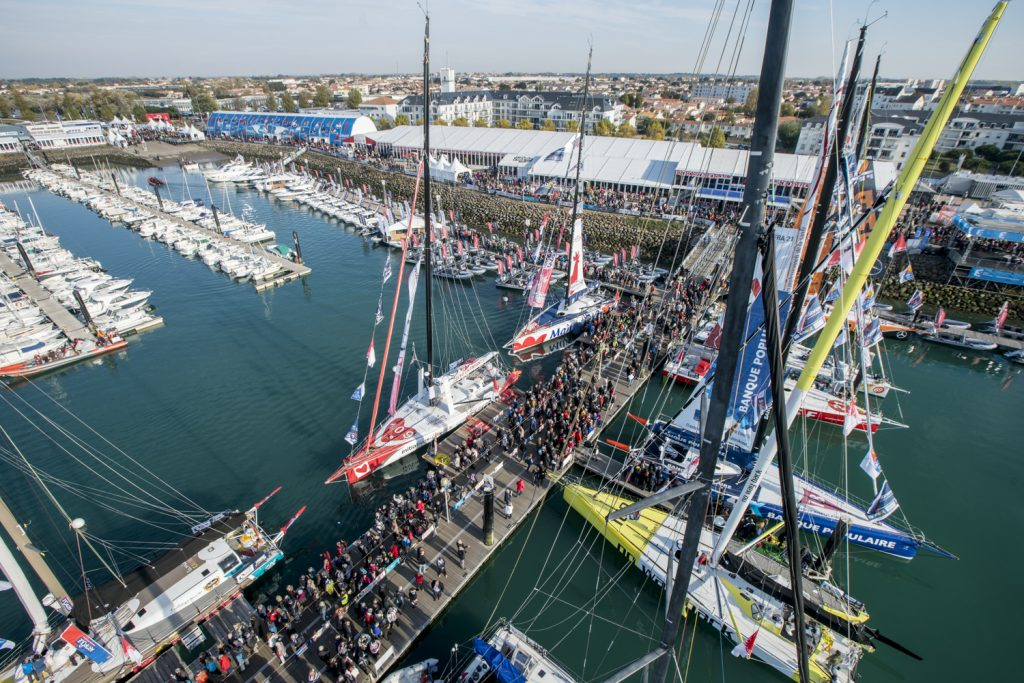 Final Vendée Globe preparations in Les Sables-d'Olonne, France, before the start of the around-the-world-alone race on November 6, 2016.